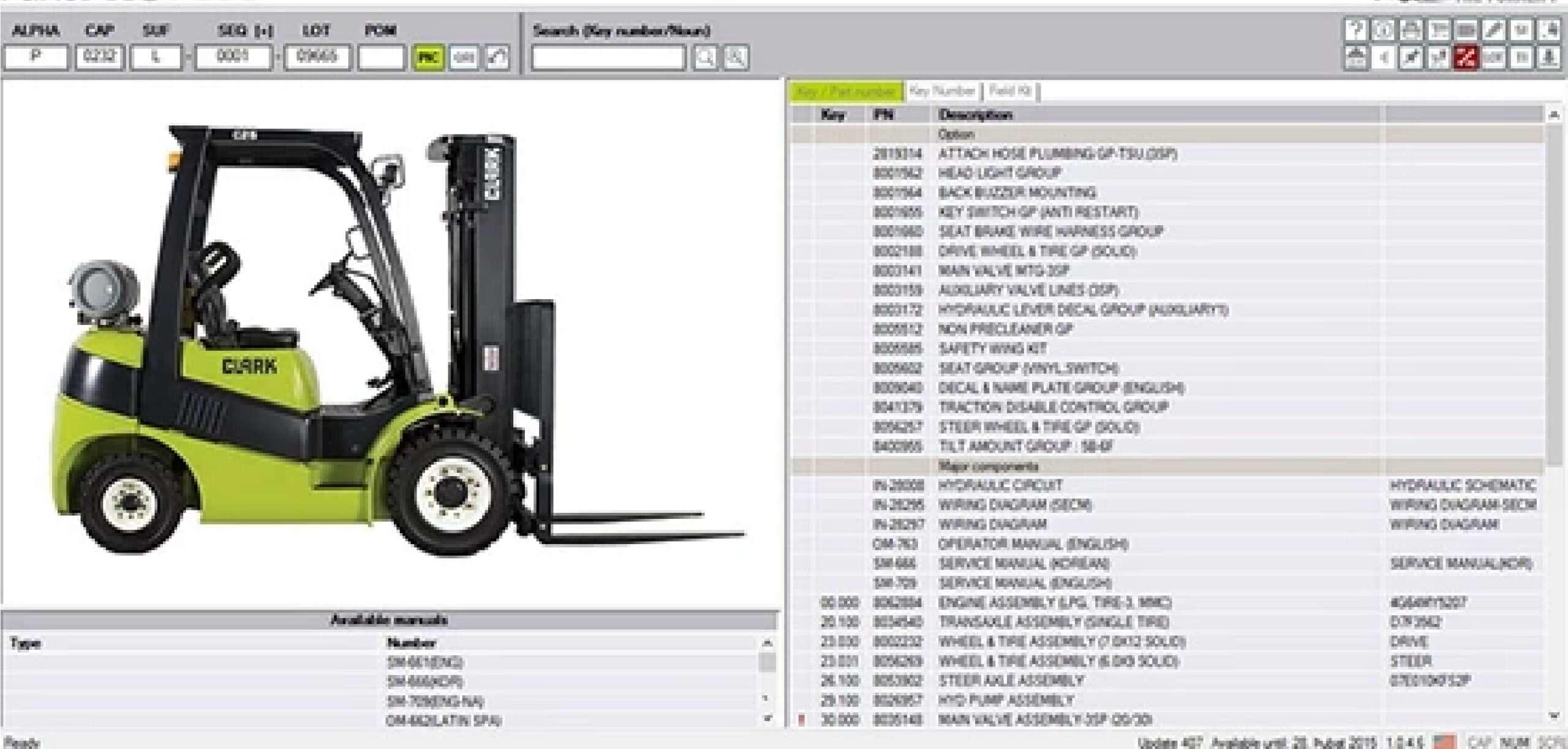 CLARK ForkLift Trucks PartsPro Plus SS-01