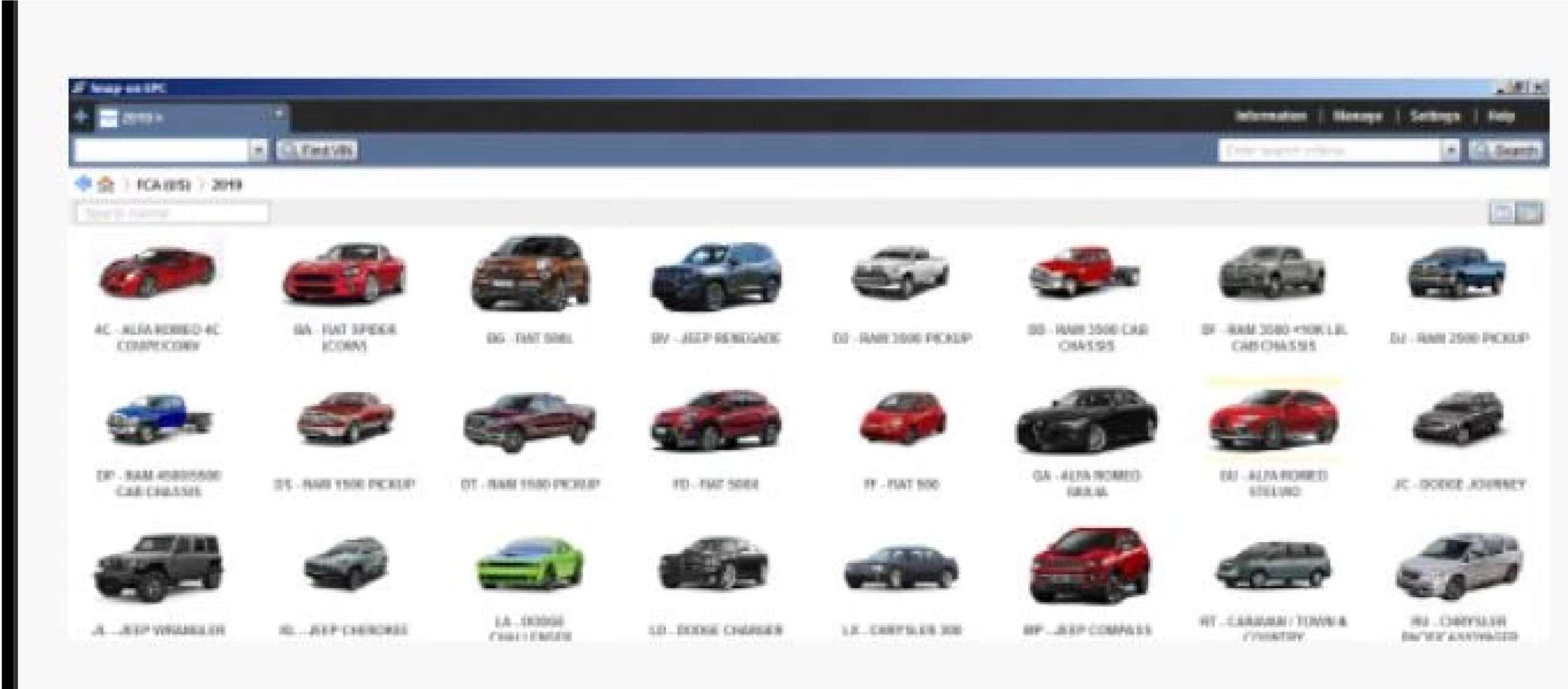 Chrysler FCA EPC 2020 SS-01