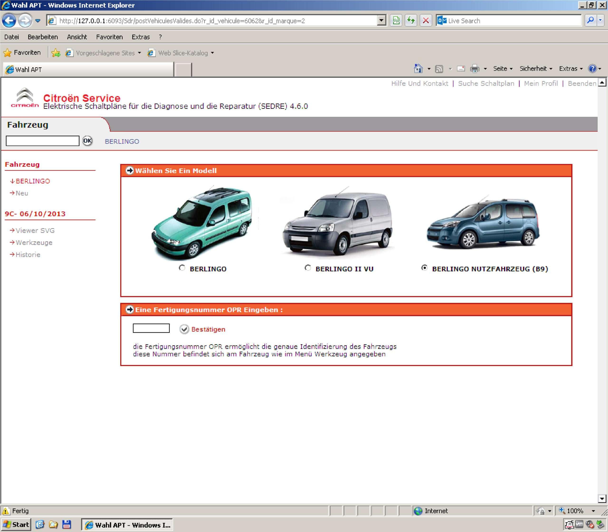 Citroen Service Box + Sedre (on VMware) SS-01