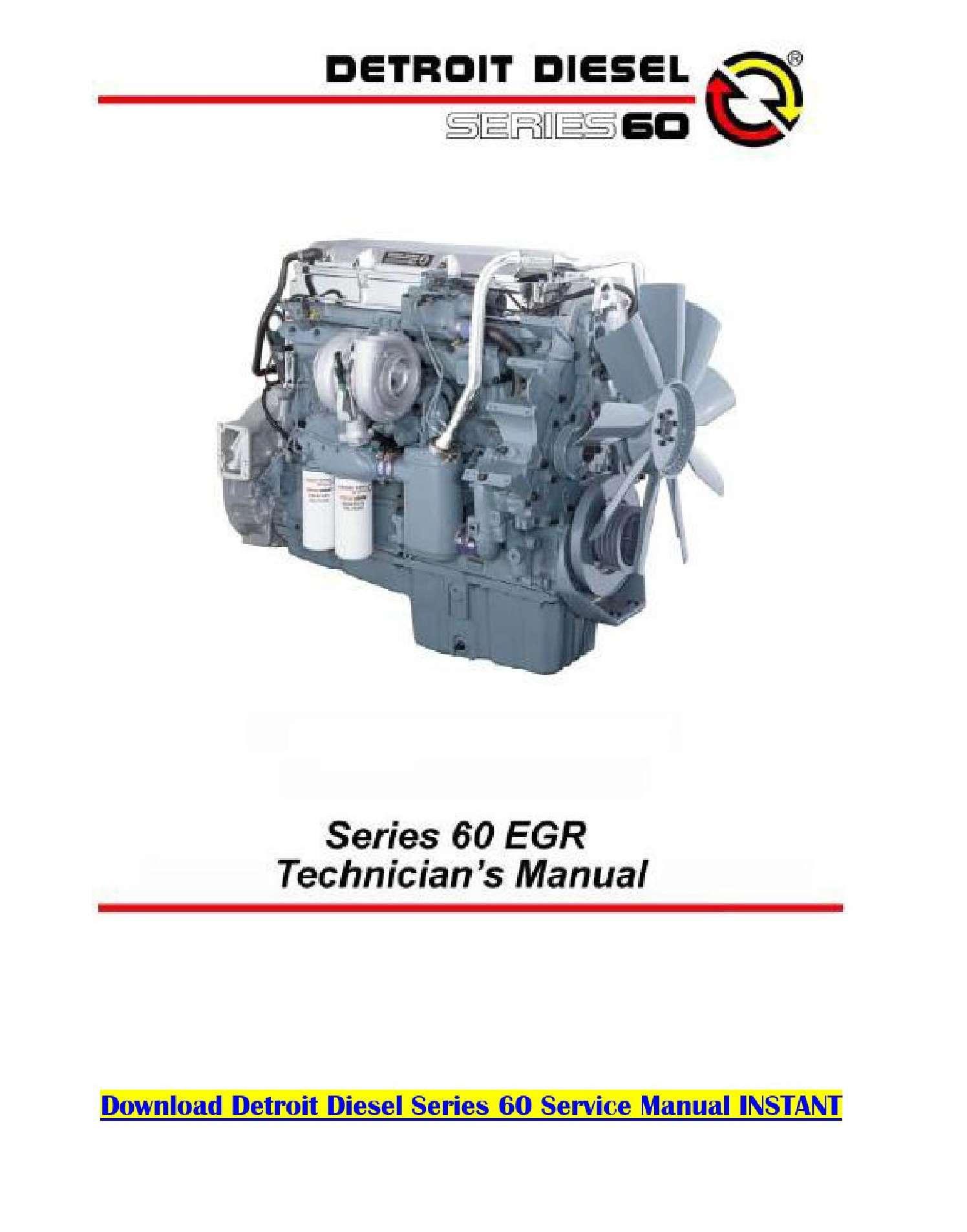 Detroit Diesel 60 Series Service Manual SS-01