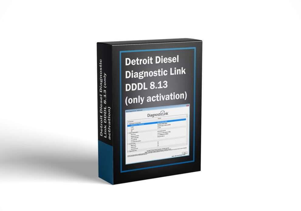 Detroit Diesel Diagnostic Link DDDL 8.13 (only activation)