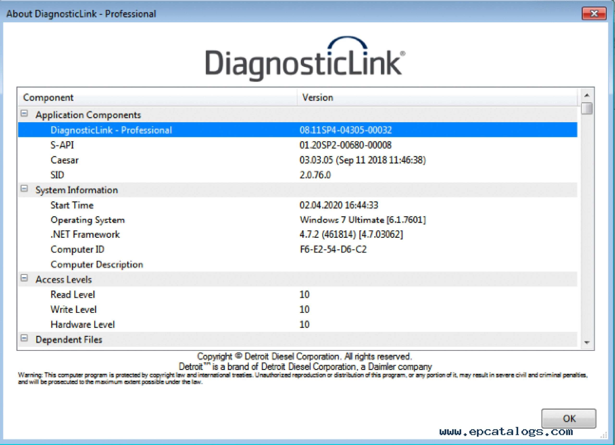 Detroit Diesel Diagnostic Link DDDL 8.13 (only activation) SS-01