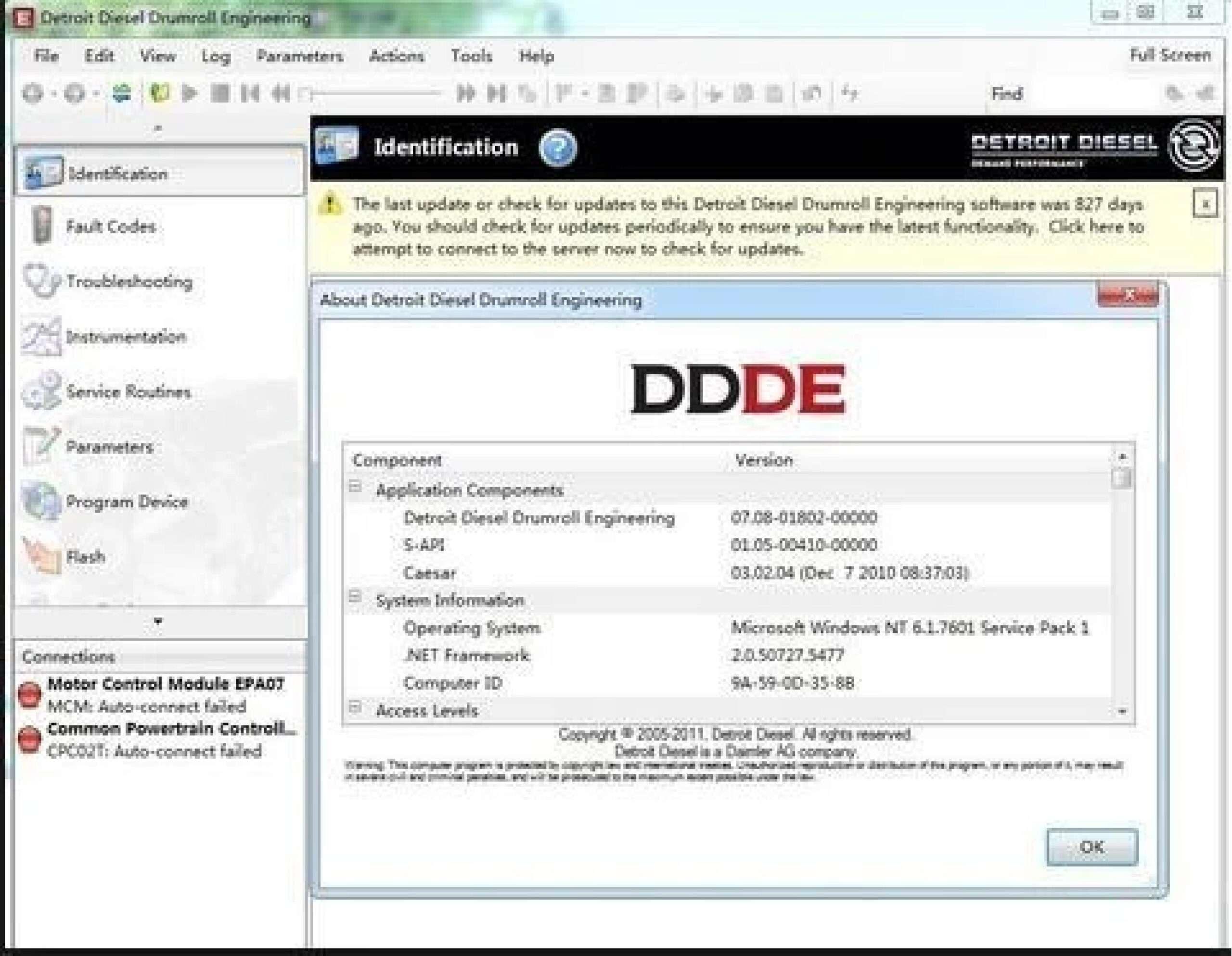 Detroit Diesel Drumroll Engineering DDDE SS-01