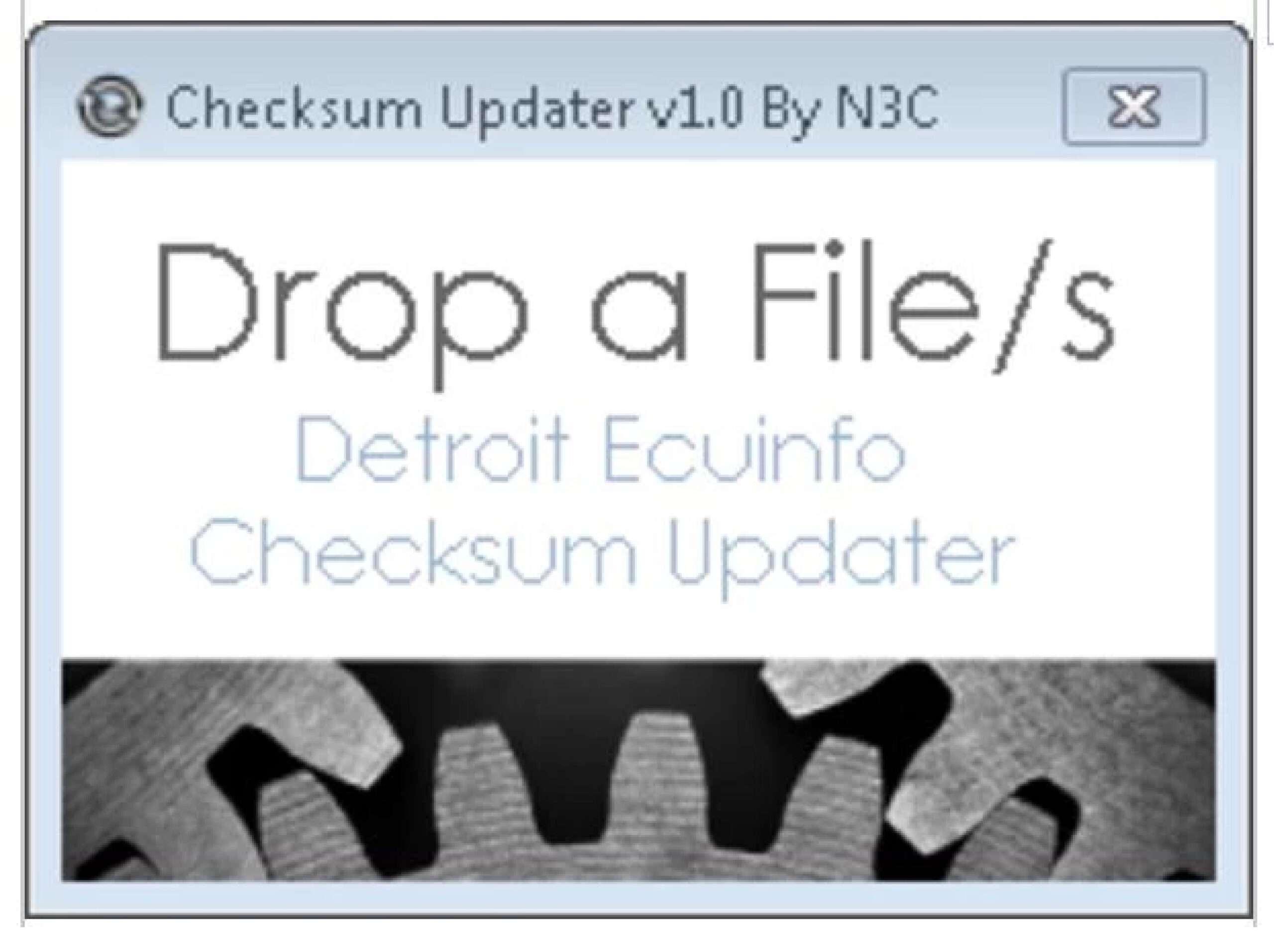 Detroit Diesel ECU Checksum Updater SS-01