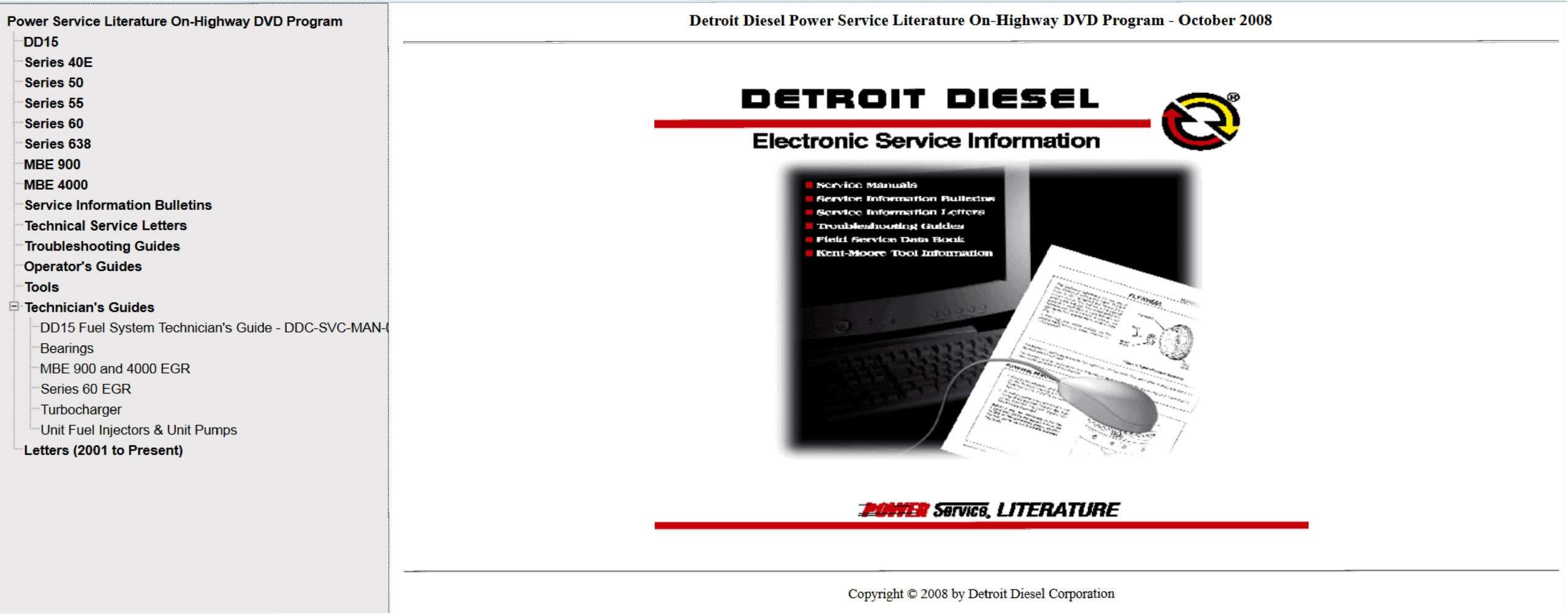 Detroit Diesel Power Service Literature Off-Highway SS-01