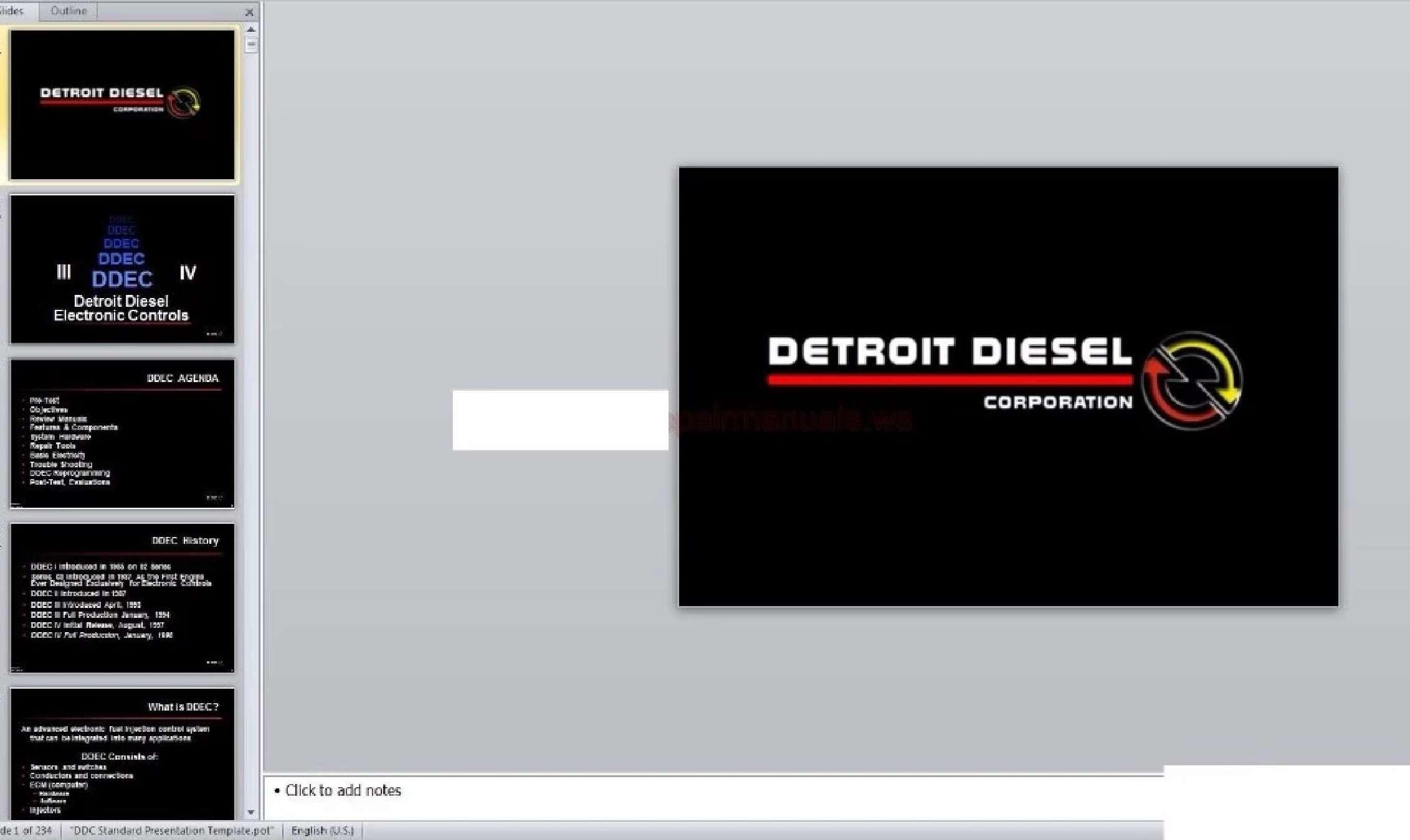 Detroit Full Set Shop Manual SS-01