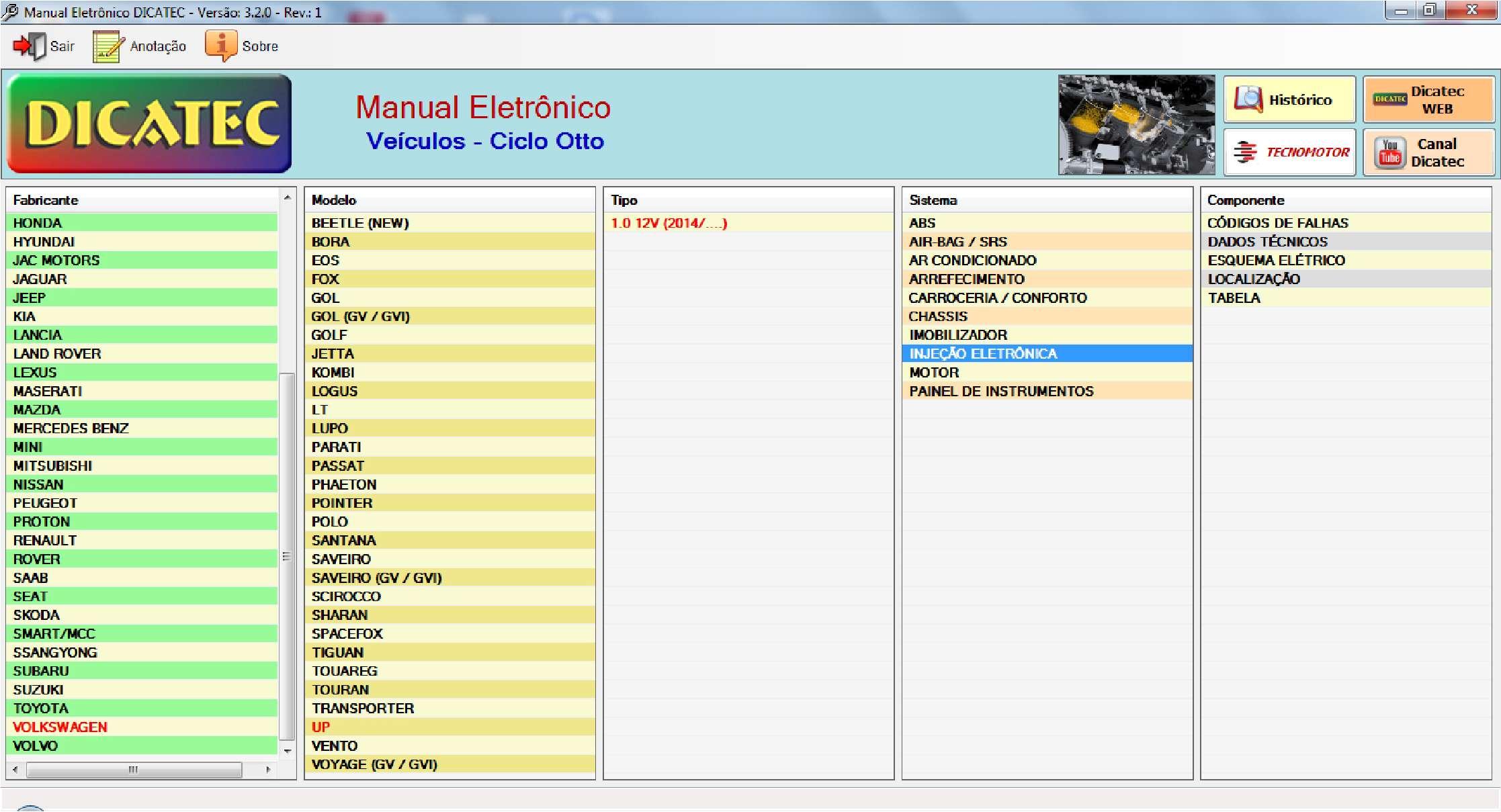 Dicatec database SS-01