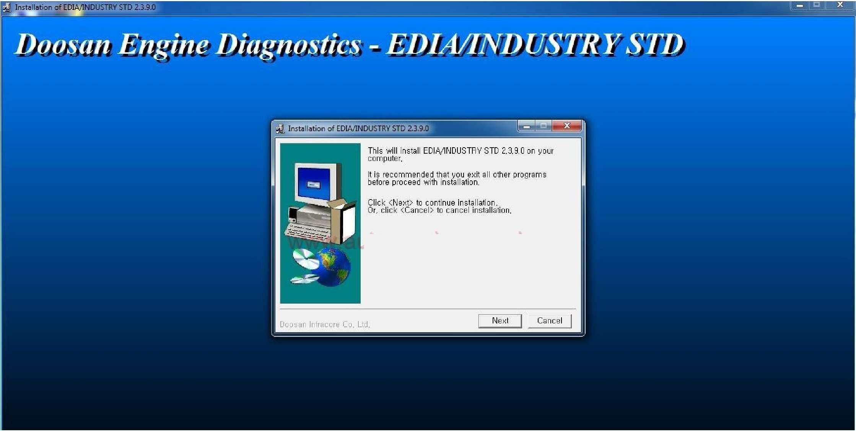 Doosan eDoctor Engine Diagnostic (EDIA) 2.3.9 2017 SS-01