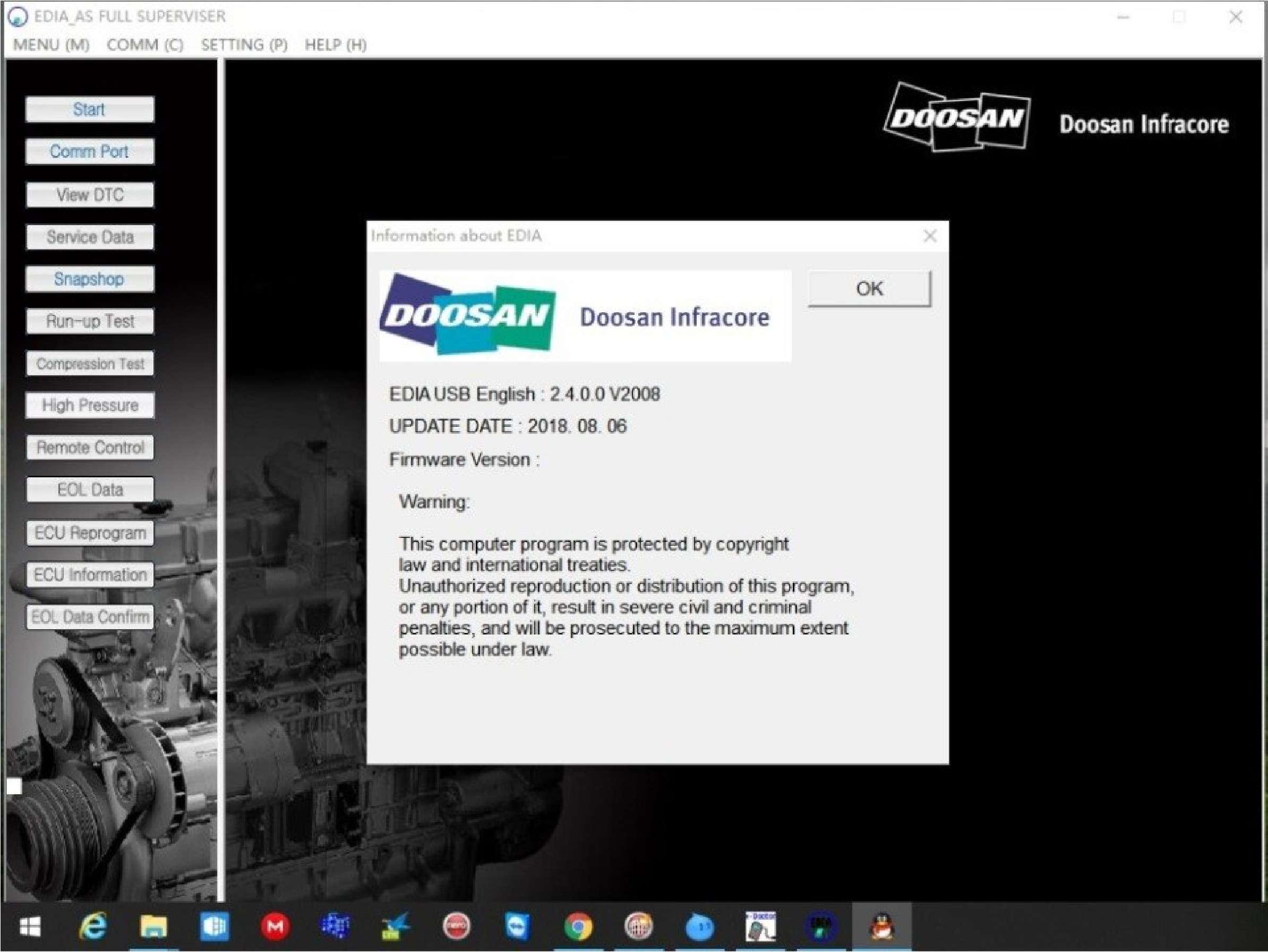 Doosan eDoctor Engine Diagnostic (EDIA) 2.4 2019 (with keygen) SS-01