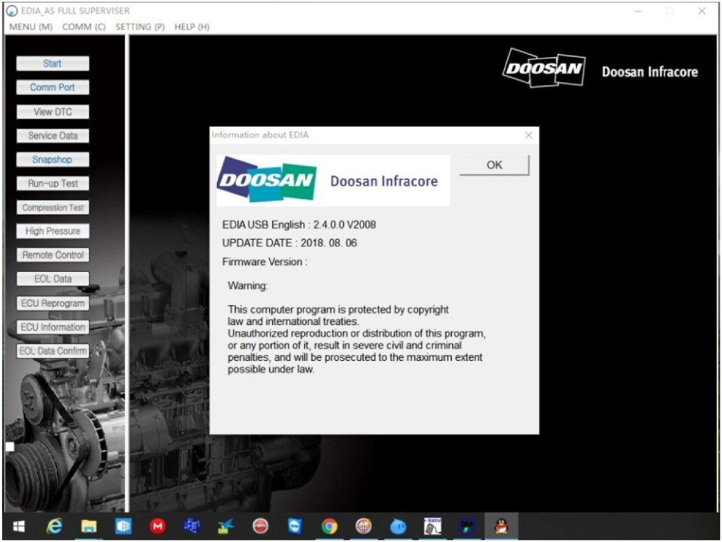 Doosan eDoctor Engine Diagnostic (EDIA) 2.4 2019 (without keygen) SS-01