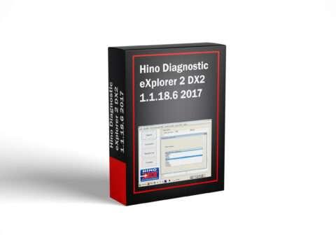Hino Diagnostic eXplorer 2 DX2 1.1.18.6 2017