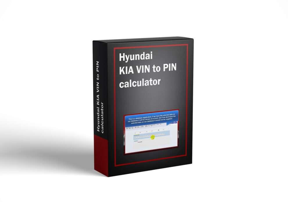 Hyundai KIA VIN to PIN calculator