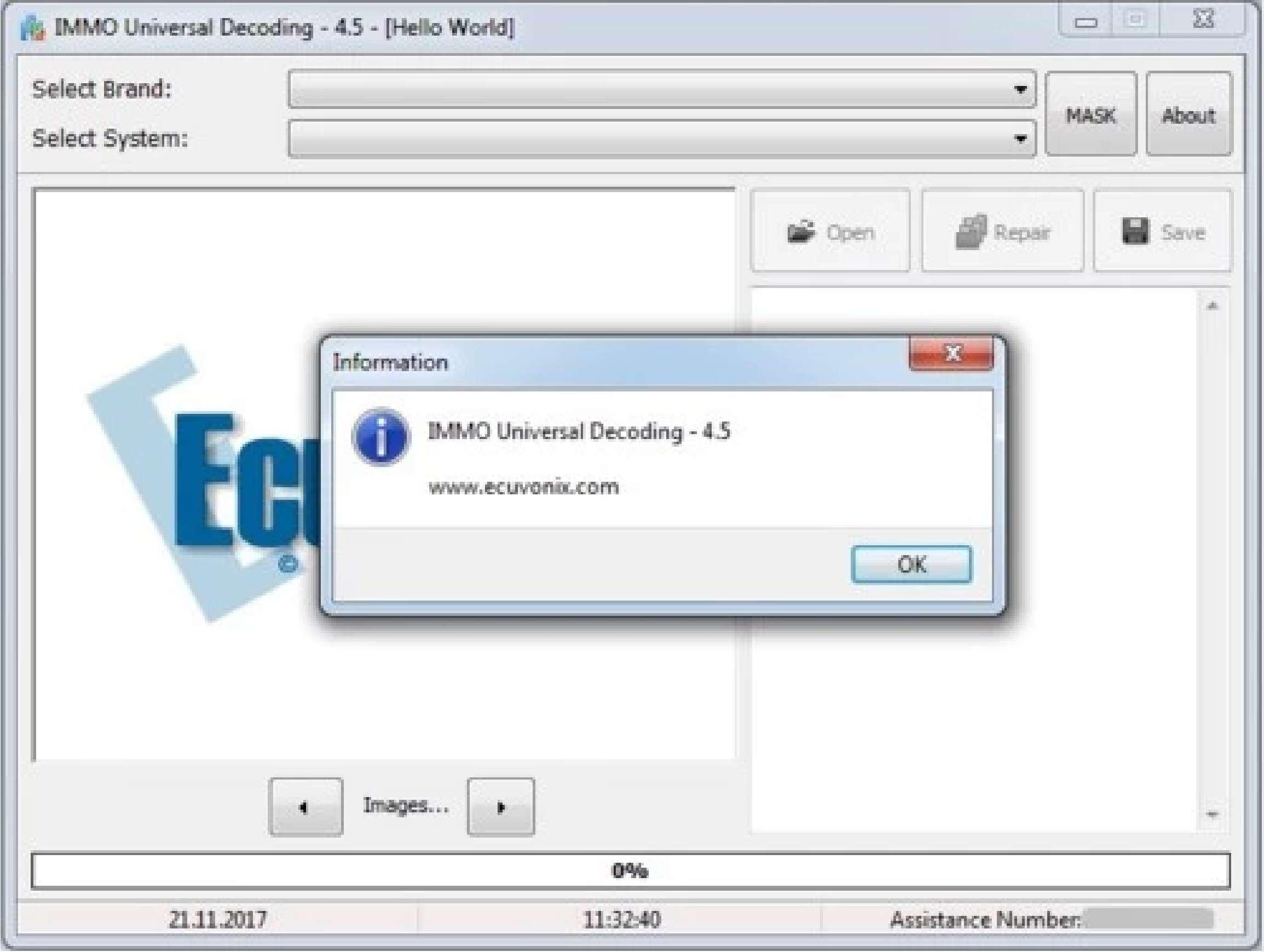 IMMO Universal Decoding Ecuvonix 4.5 ss-01