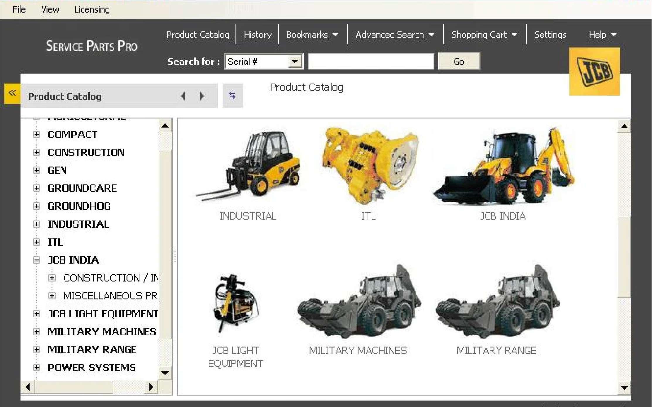 JCB Service Parts Pro SS-01