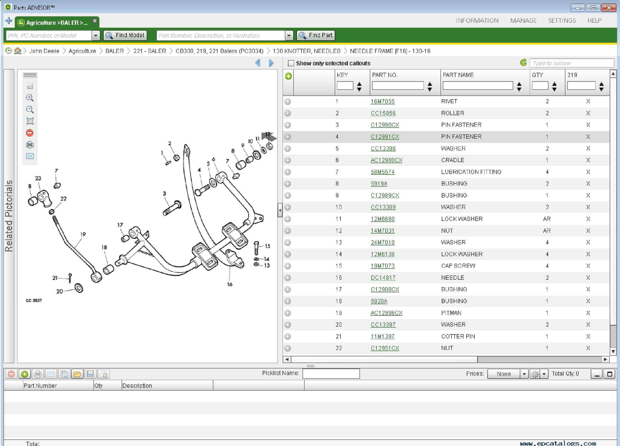 John Deere Parts Advisor 2020 SS-01
