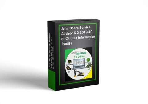 John Deere Service Advisor 5.2 2018 AG or CF (like information basis)
