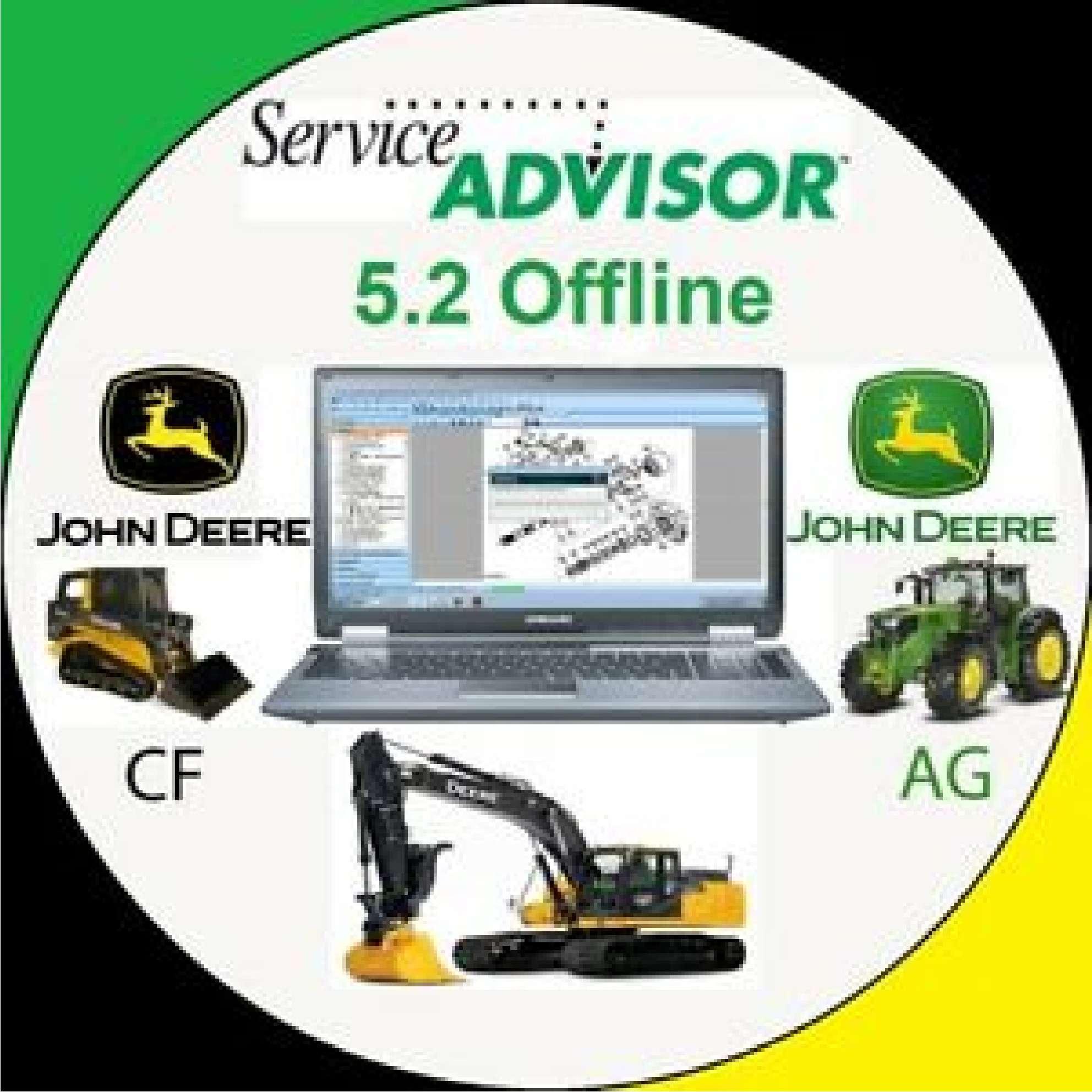 John Deere Service Advisor 5.2 2018 AG or CF (like information basis) SS-01