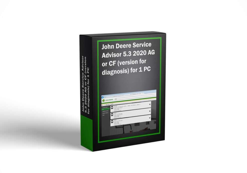 John Deere Service Advisor 5.3 2020 AG or CF (version for diagnosis) for 1 PC