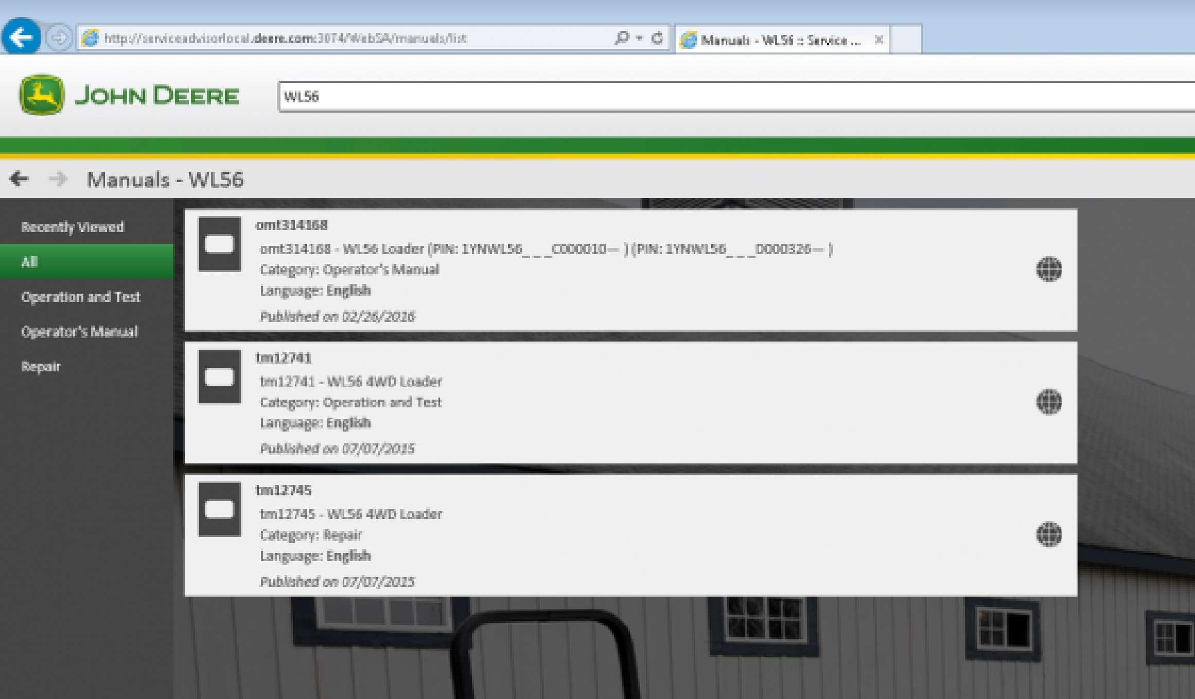 John Deere Service Advisor 5.3 2020 AG or CF (version for diagnosis) for 1 PC SS-01