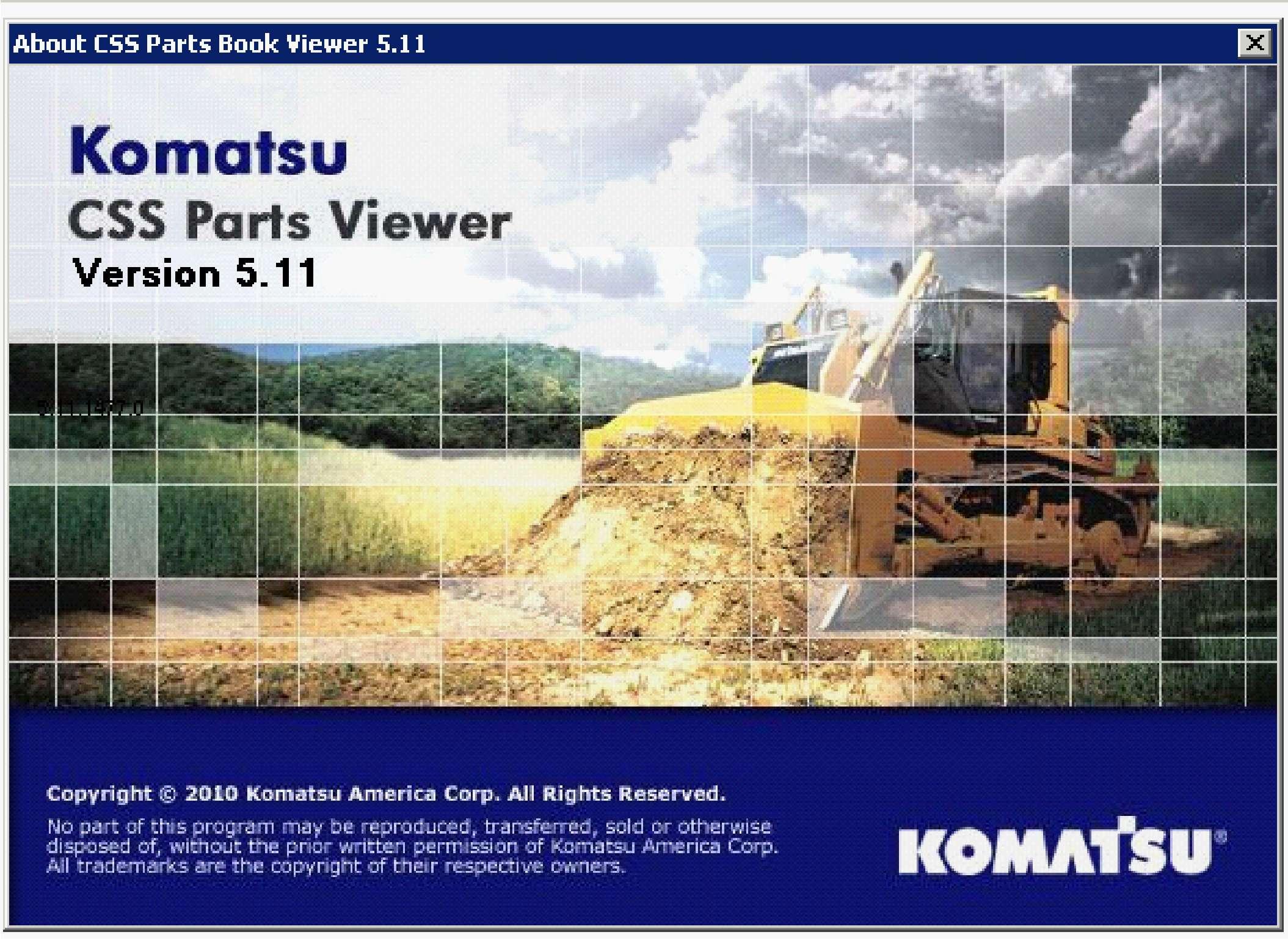 Komatsu CSS Parts Viewer 2014 SS-01