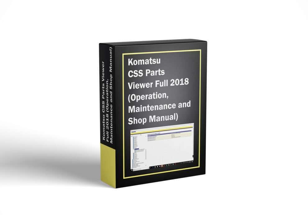 Komatsu CSS Parts Viewer Full 2018 (Operation, Maintenance and Shop Manual)