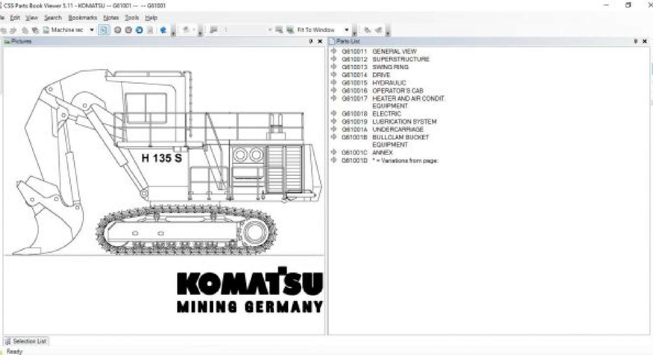 Komatsu LinkOne EPC 2020 SS-01