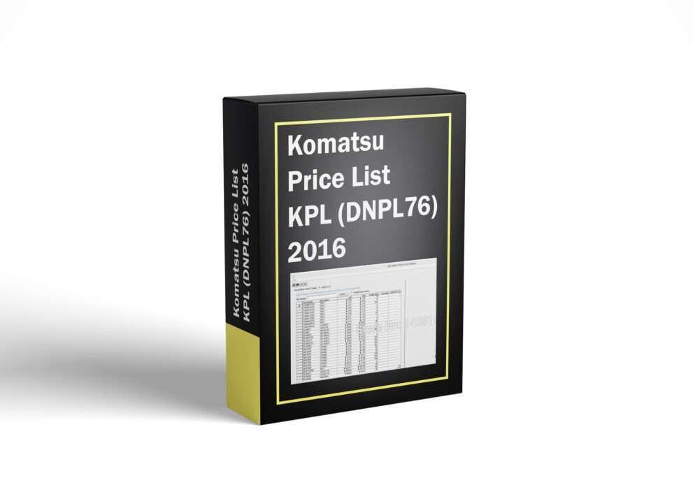 Komatsu Price List KPL (DNPL76) 2016