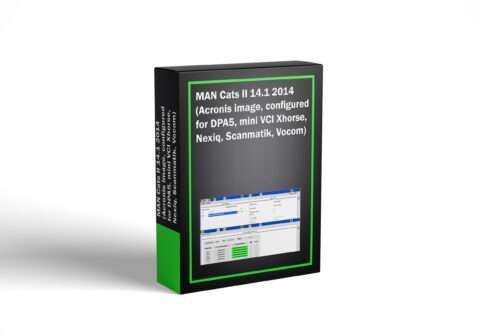 MAN Cats II 14.1 2014 (Acronis image, configured for DPA5, mini VCI Xhorse, Nexiq, Scanmatik, Vocom)