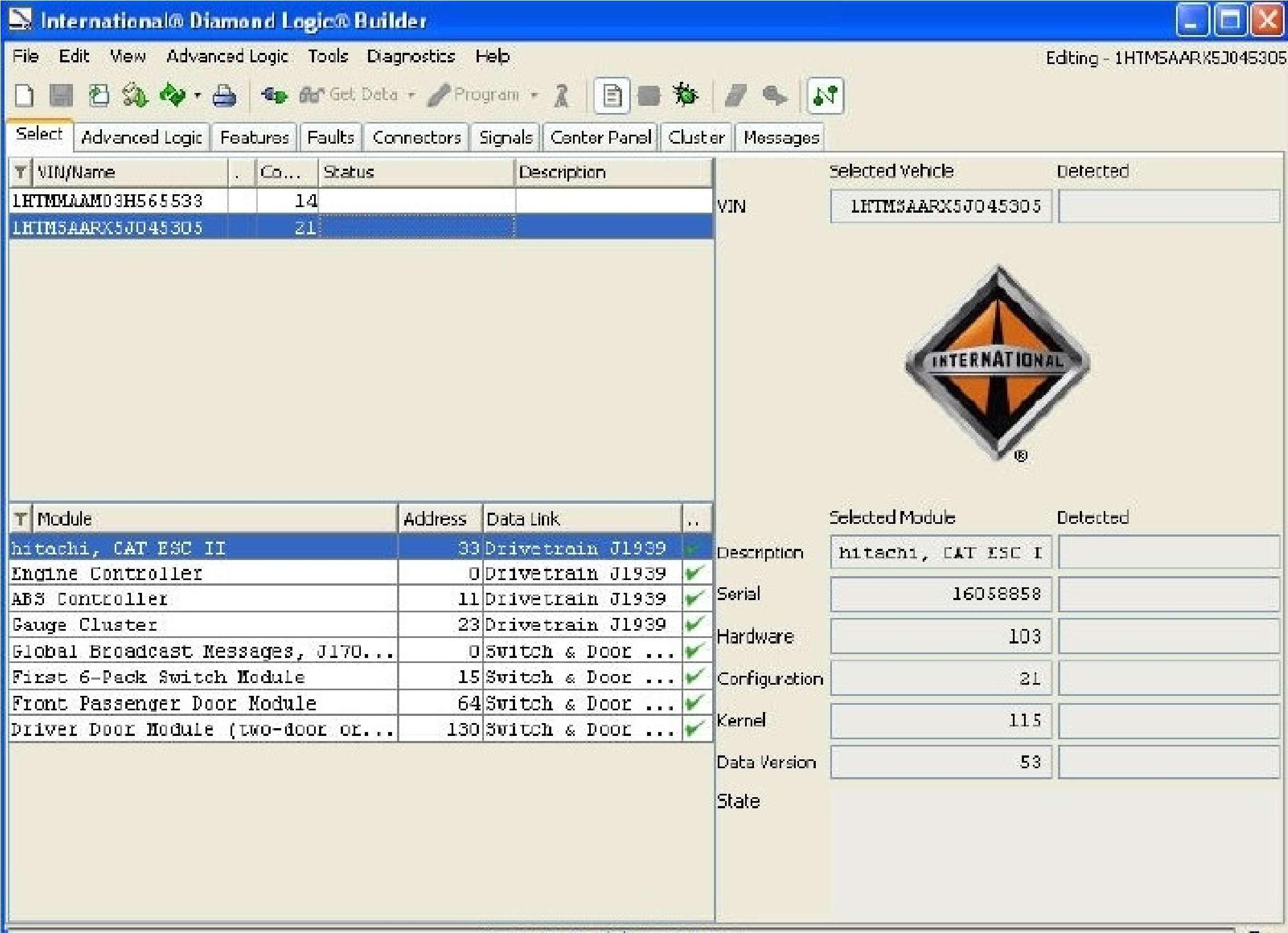 Navistar Diamond Logic Builder DLB 2020 SS-01