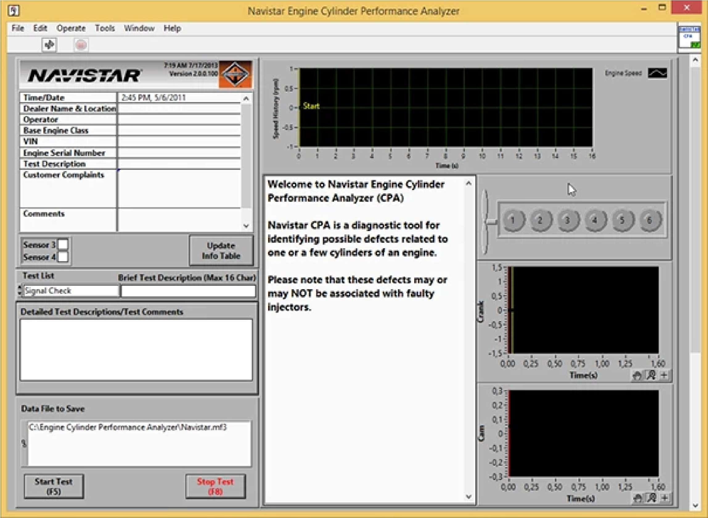 Navistar Engine Cylinder Performance Analyzer (CPA) SS-01