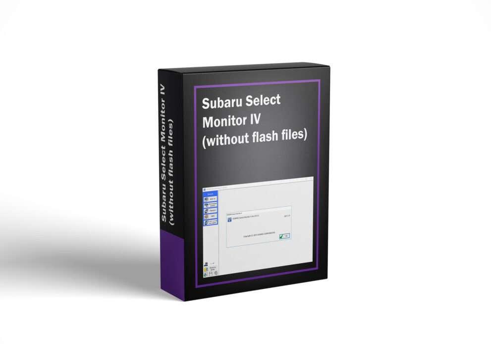 Subaru Select Monitor IV (without flash files)