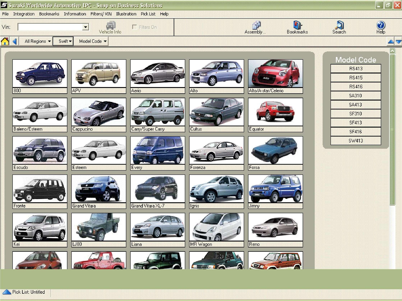Suzuki Worldwide EPC ss-01