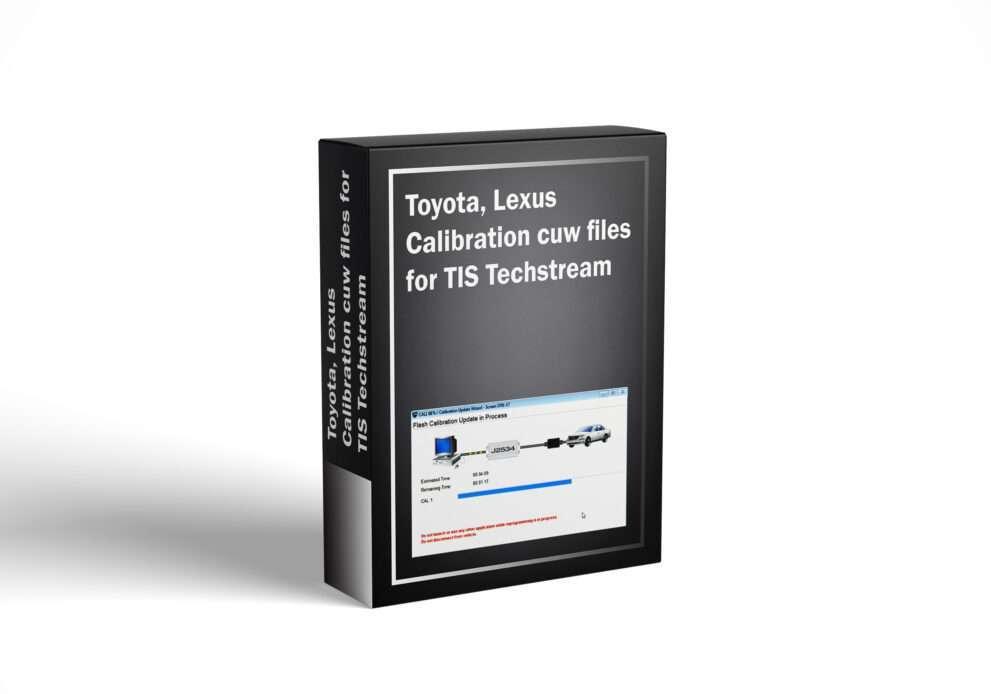 Toyota, Lexus Calibration cuw files for TIS Techstream